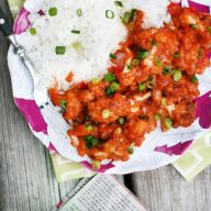 How to make Gobi Manchurian, Indian-style cauliflower. My favorite dish to order at Indian restaurants!