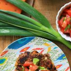 Make delicious black bean burgers out of kitchen scraps! Click through for recipe.