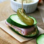Breadless cucumber sandwiches: Use cucumber slices as the base, add meats, cheese, and your favorite condiment. Yum!