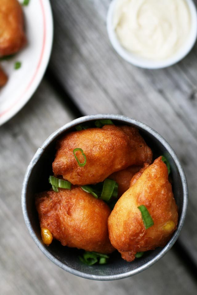 Corn fritters with maple butter: A Minnesota State Fair-inspired recipe.