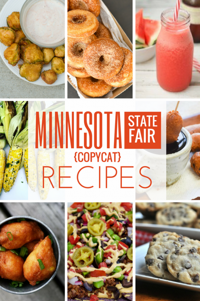 Minnesota State Fair copycat recipes. Click through to get some fair-inspired recipes!