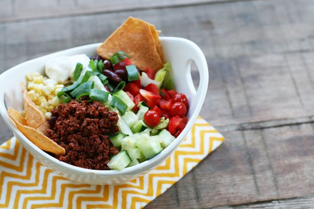 Chorizo taco salad: Get the recipe for a super flavorful and budget-friendly taco salad to feed the whole family!