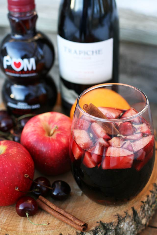 Cinnamon red wine punch: A delicious make-ahead red wine punch with deep, fruity flavors.
