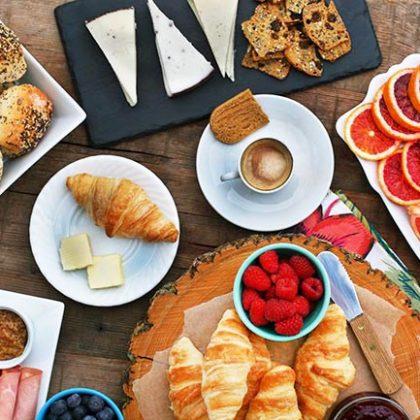 European-style breakfast bar: A simple DIY breakfast or brunch idea.