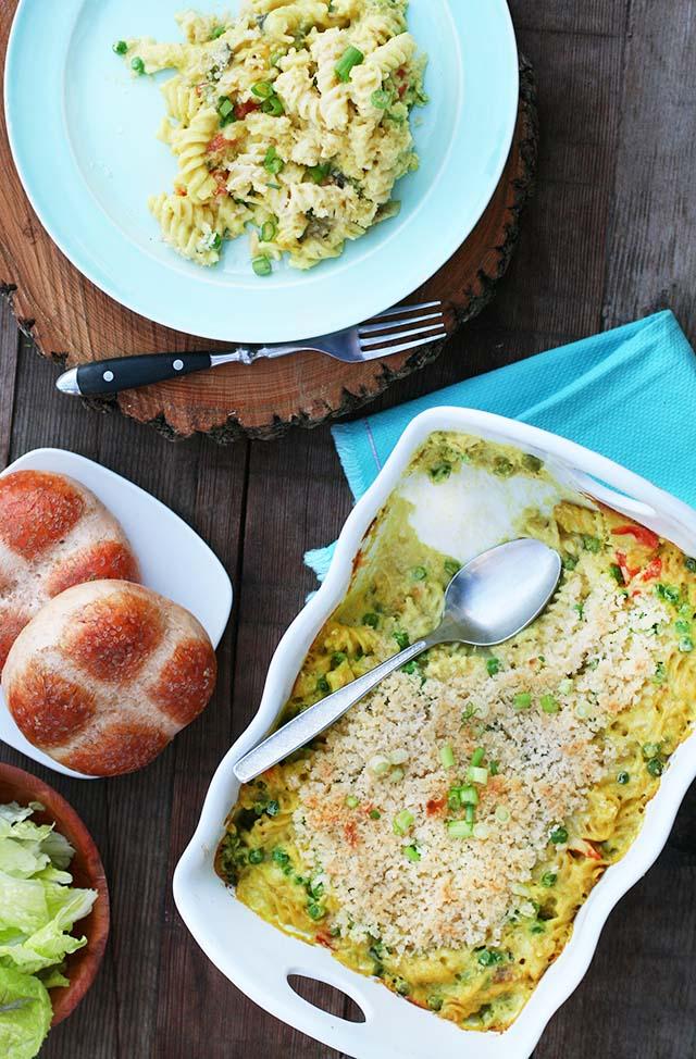 Tuna noodle hotdish: A classic casserole recipe with a few modern updates. Click through for recipe!