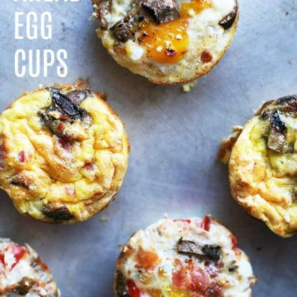 Make-ahead egg cups: Breakfast made easy! Click through for recipe.