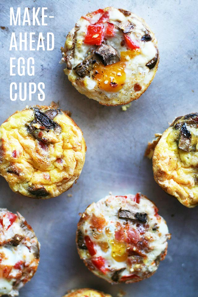 Make-ahead scrambled egg cups: Make these one day and eat for breakfast for several days!