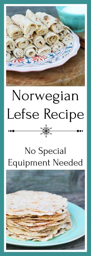 Norwegian lefse recipe - no special equipment needed! Get the recipe.