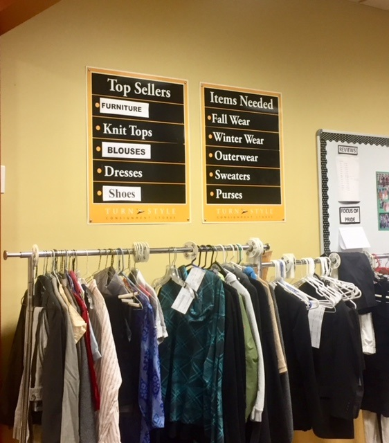 Selling unwanted clothes and household items at a consignment shop. Make extra money and get rid of stuff!