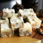 White sour cream fudge with walnuts: This delicious white fudge is a welcome alternative to chocolaty fudge.