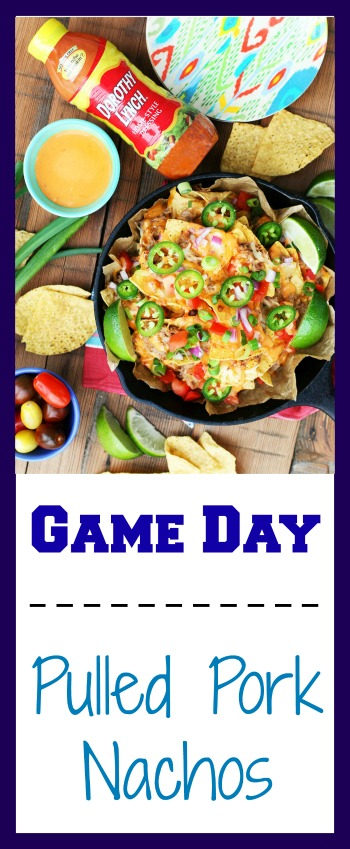 Game Day Pulled Pork Nachos: The ultimate, meaty, cheesy nacho recipe.