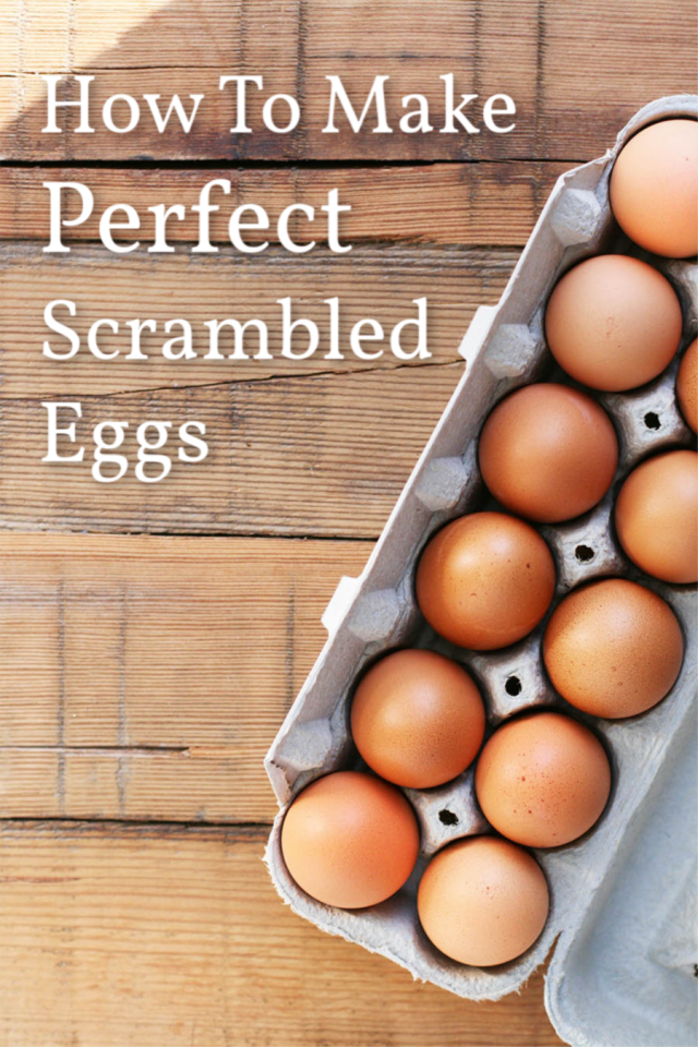 Learn how to make perfect scrambled eggs - the melt-in-your-mouth kind. Click through for detailed instructions!
