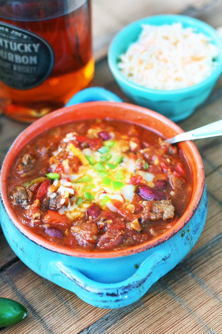 Smoky whiskey chili: My favorite chili ever. So much flavor!