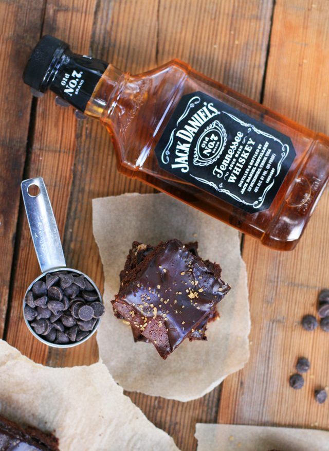 Whiskey brownies: The brownies and frosting both contain whiskey, making for deep flavor and a kick!