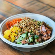 Cheap Quinoa Poke Bowls: Enjoy poke bowls without spending a ton of money! Click through for recipe.