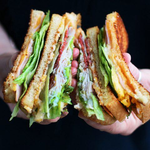 Grilled club sandwiches: The classic sandwich gets a delicious upgrade. Click through for recipe!