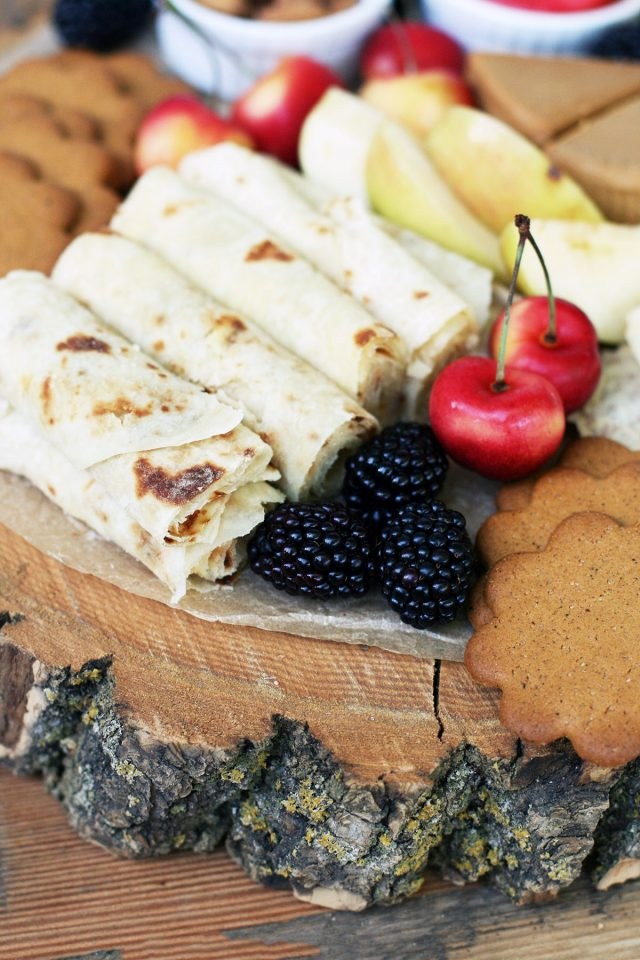 Lefse and other Scandinavian snacks make up this delicious snack board. Click through for ideas!