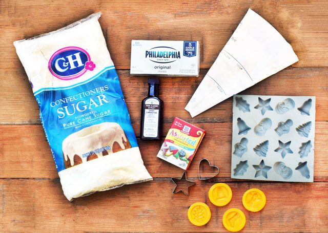 Ingredients to make cream cheese mints: Click through for recipe!