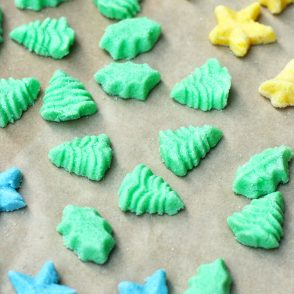Make cream cheese mints with a rubber mint mold: Can be customized for your unique party or event.