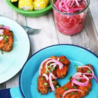 Cholula Chicken With Pickled Red Onions
