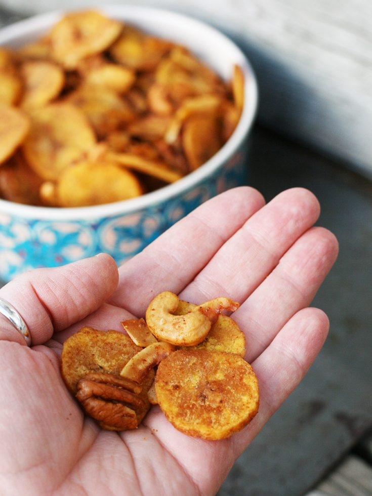 Paleo Snack Mix: A grain-free alternative to Chex Mix, that's just as addictive.