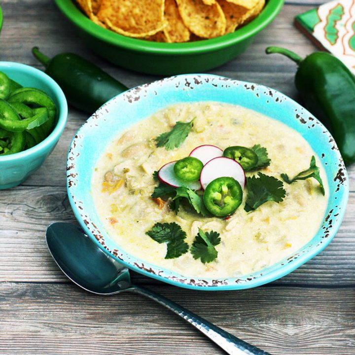 Creamy white chicken chili: My favorite recipe. Full of flavor, with customizable spice levels.