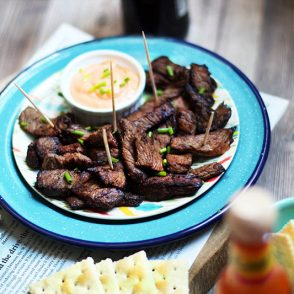 Chislic recipe: Deep fried, seasoned beef. A South Dakota bar favorite!