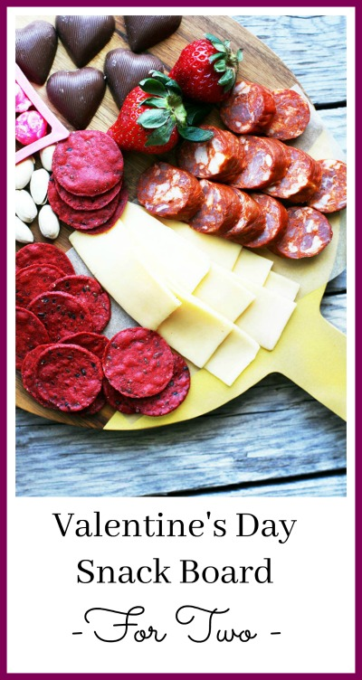 Learn how to create a Valentine's Day snack board, perfect for two people!