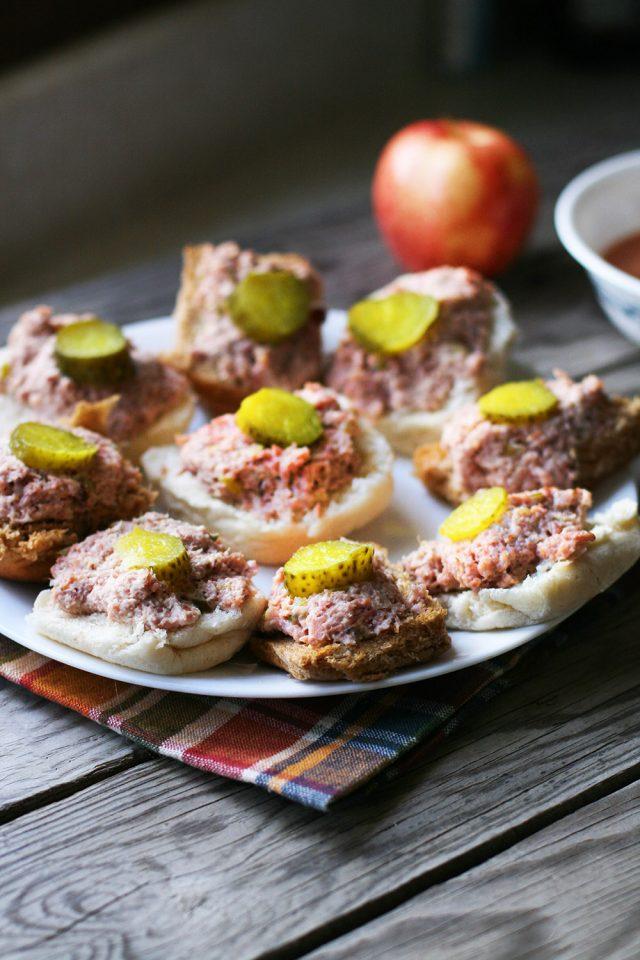 Simple ham salad: A delicious use for leftover ham! Click through for recipe.