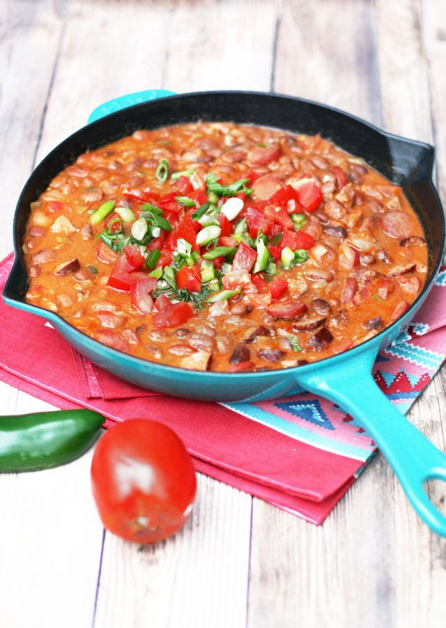 Mexican cowboy beans (Charro beans) - A delicious meat-filled bean recipe!