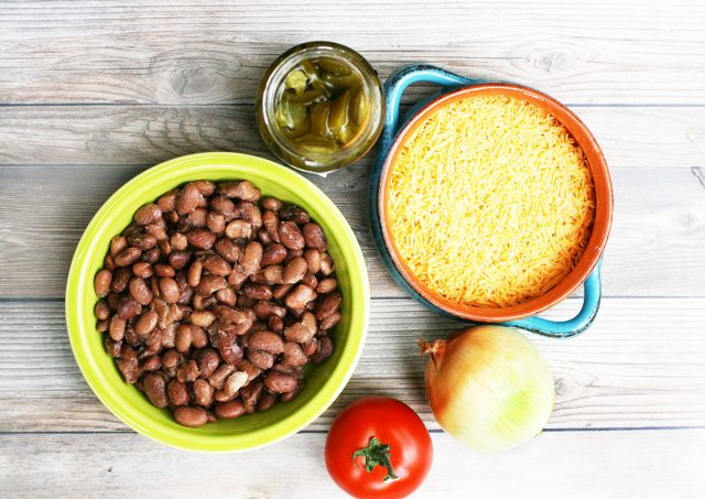 Cheesy pinto bean dip: This bean dip is loaded with cheese!