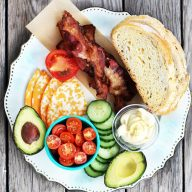 Build-your-own BLT platter: Each person gets to choose what they want on their sandwich. Genius!