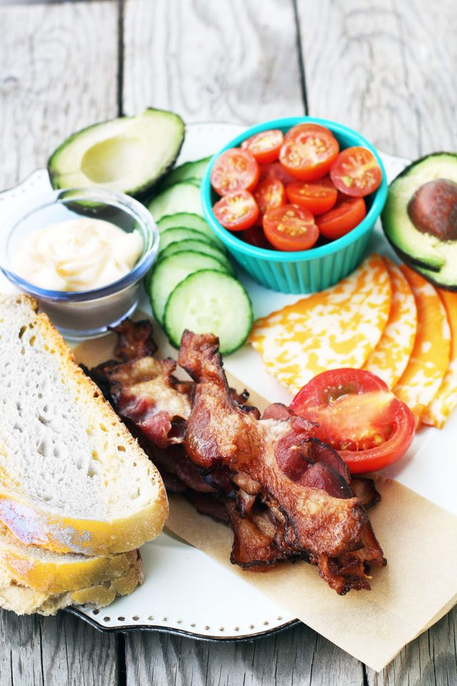 DIY BLT platter: Choose your BLT toppings. Every eater is happy!