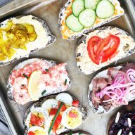 Scandinavian-style open faced sandwiches: Here are a bunch of topping ideas!