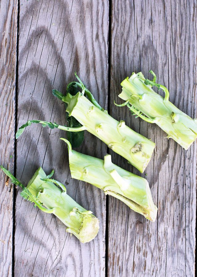 Don't throw out your broccoli stalks - make cheesy broccoli chips instead!