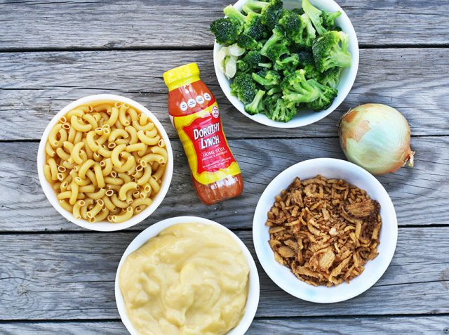 Chicken broccoli hotdish: A classic hotdish with some great flavor! Click through for recipe.
