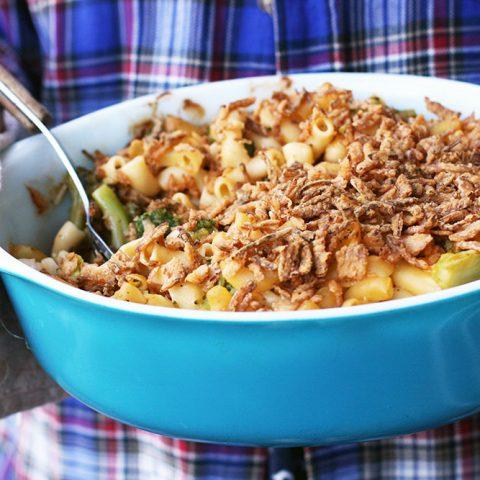 Chicken broccoli hotdish recipe: Click through for recipe!