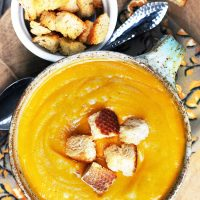 Creamy vegetable soup: Paleo and Whole30 friendly. Click through for easy recipe!
