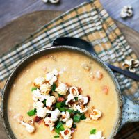 Sharp cheddar and ale soup: If you like beer cheese soup, give this flavorful soup a try!
