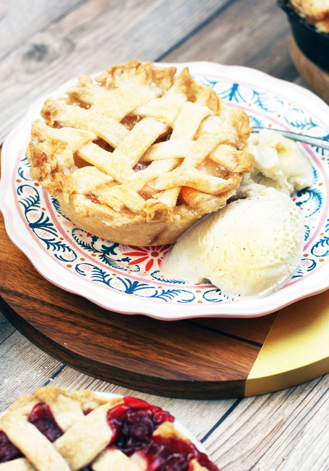 Mini apple pies: Learn how to make a single-serving mini pie. If you can make regular pie, you can make these!