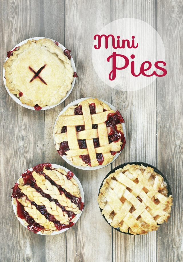 Learn how to make mini pies! These single-serving pies are adorable, and quite easy to make. Click through for recipe!