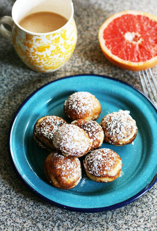 Aebleskiver (Danish pancakes) - Made in a special pan that makes round pancakes!