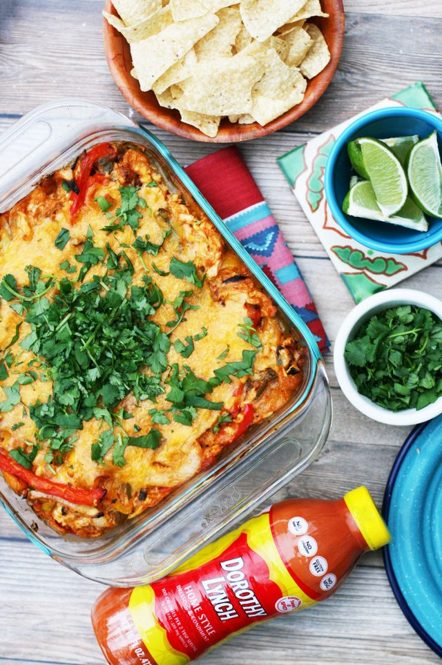 Chicken fajita bake: A hearty, crowd-pleasing Mexican-inspired meal.