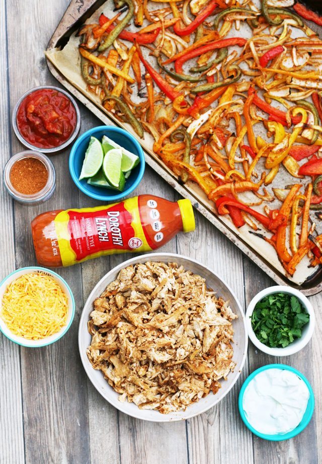 Chicken fajita bake: Prepare fajita-style vegetables in the oven, and combine with ingredients to make a casserole-type dish!