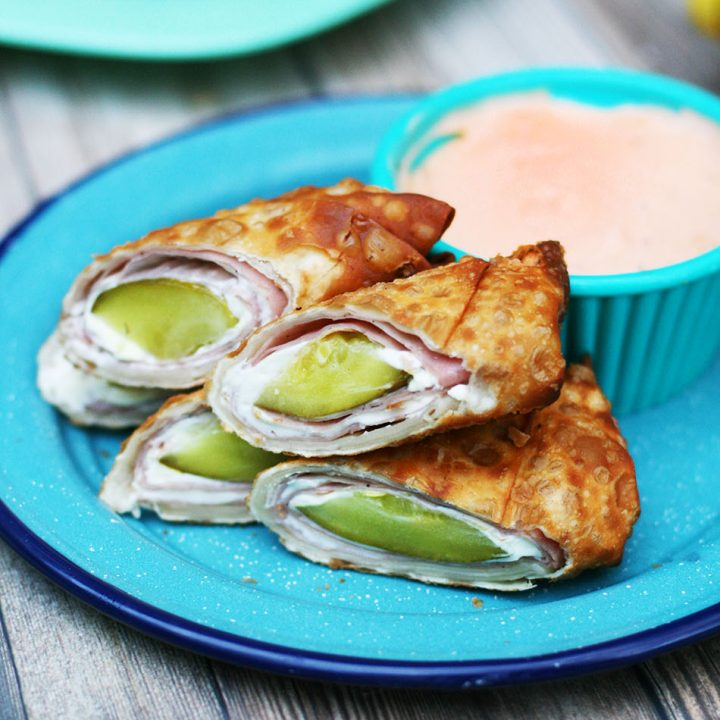 Ham and pickle roll up egg rolls: The craziest, best flavor combination made into an egg roll. Yasss!