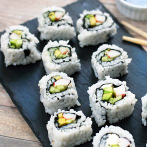 How to make cheap California rolls at home. You'll spend WAY less when you make homemade sushi at home!