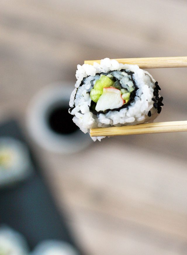 Homemade California rolls at home: Make your own homemade sushi and save LOTS of money!