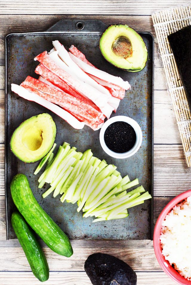 What you'll need to make homemade California rolls at home. Click through for instructions!