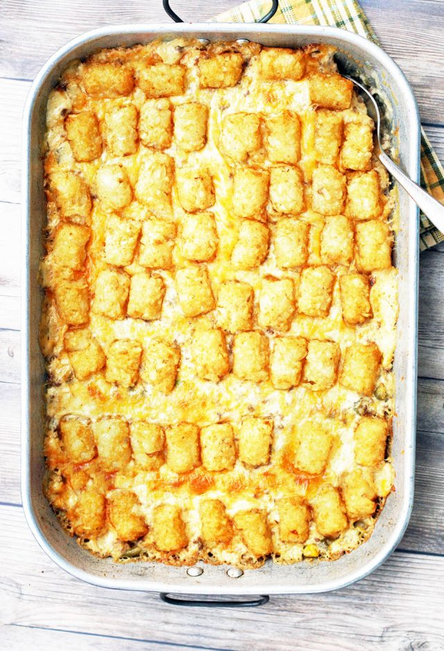 Tator tot hotdish: Get the basic, classic recipe that's been around for decades in Minnesota and throughout the Midwest!