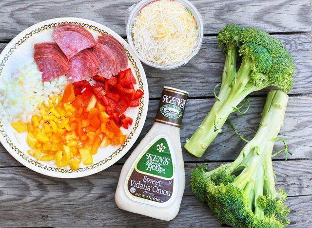 Broccoli salami sweet onion salad: For when you want a hearty, meaty salad but still want your veggies.